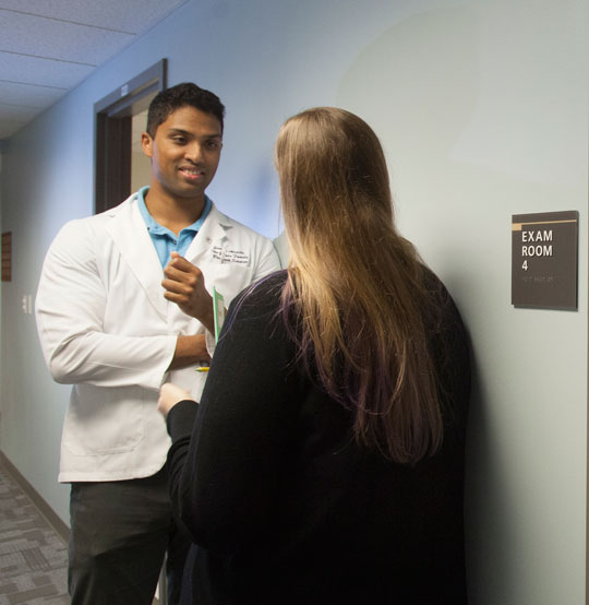 PCOM physicians and patients talk about the importance of the patient-provider relationship in primary care.  The PCOM Family Medicine team places special emphasis on understanding patient needs and priorities.